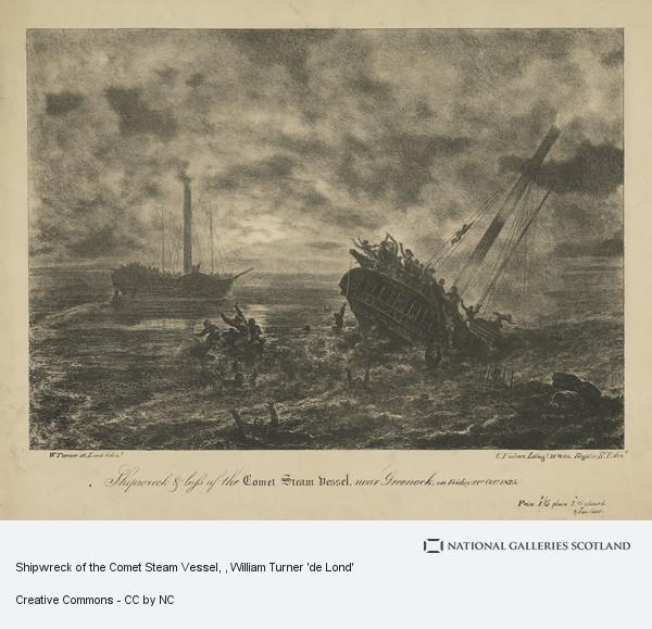 William Turner 'de Lond', Shipwreck of the Comet Steam Vessel