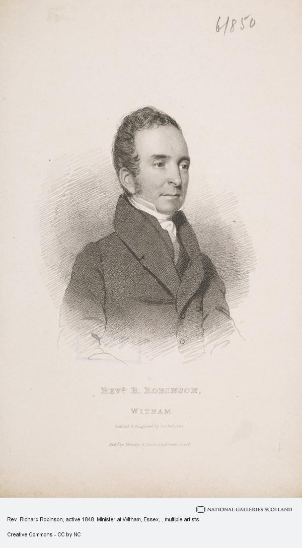 James Andrews, Rev. Richard Robinson, active 1848. Minister at Witham, Essex