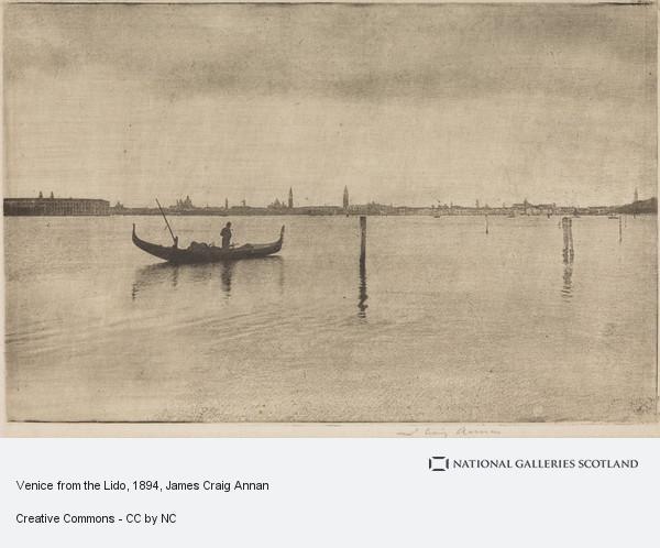 James Craig Annan, Venice from the Lido (1894)