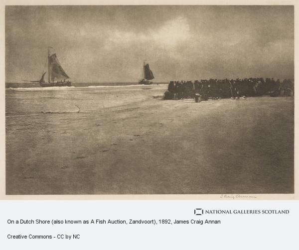 James Craig Annan, On a Dutch Shore (also known as A Fish Auction, Zandvoort)