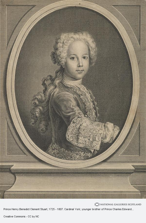Antonio David, Prince Henry Benedict Clement Stuart, 1725 - 1807. Cardinal York; younger brother of Prince Charles Edward Stuart