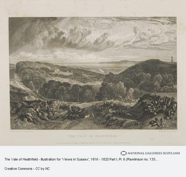 William Bernard Cooke, The Vale of Heathfield - Illustration for 'Views in Sussex', 1816 - 1820 Part I, Pl. 6 (Rawlinson no. 133 II)