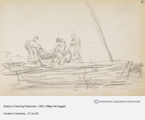 William McTaggart, Sketch of Herring Fishermen
