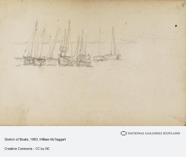 William McTaggart, Sketch of Boats
