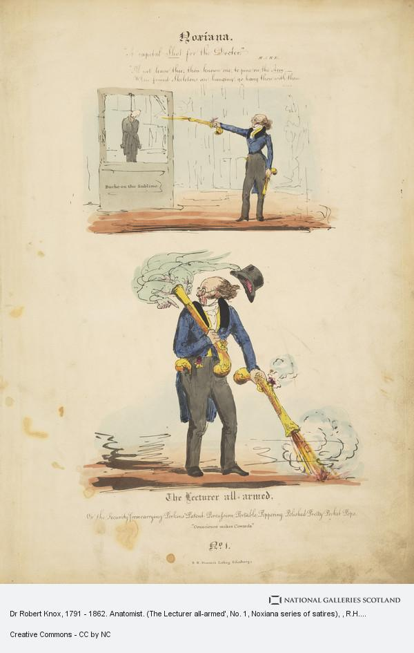 R.H. Nimmo, Dr Robert Knox, 1791 - 1862. Anatomist. (The Lecturer all-armed', No. 1, Noxiana series of satires)