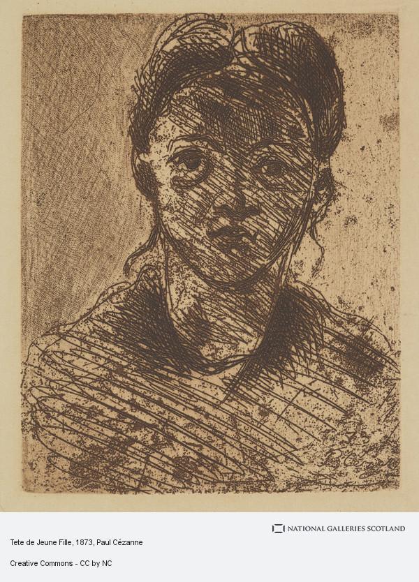 Paul Cezanne, Tete de Jeune Fille