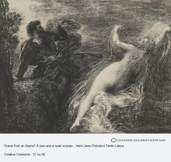 Henri-Jean-Théodore Fantin-Latour, Scene from an Opera? A man and a nude woman