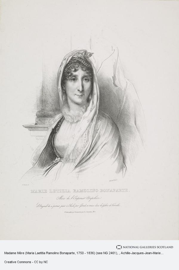 Achille-Jacques-Jean-Marie Deveria, Madame Mère (Maria Laetitia Ramolino Bonaparte, 1750 - 1836) (see NG 2461)