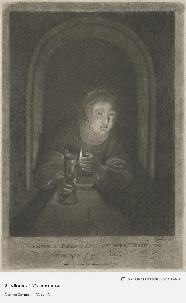 Gerrit Dou, Girl with a lamp