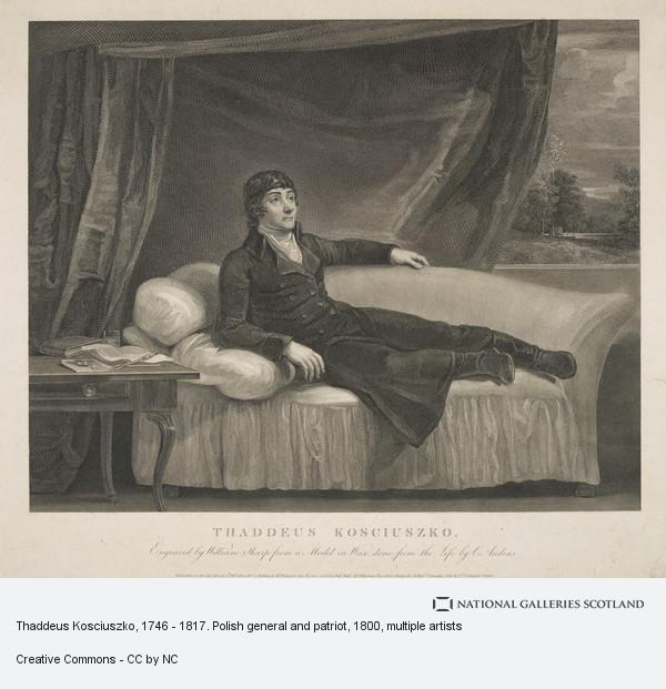 William Sharp, Thaddeus Kosciuszko, 1746 - 1817. Polish general and patriot