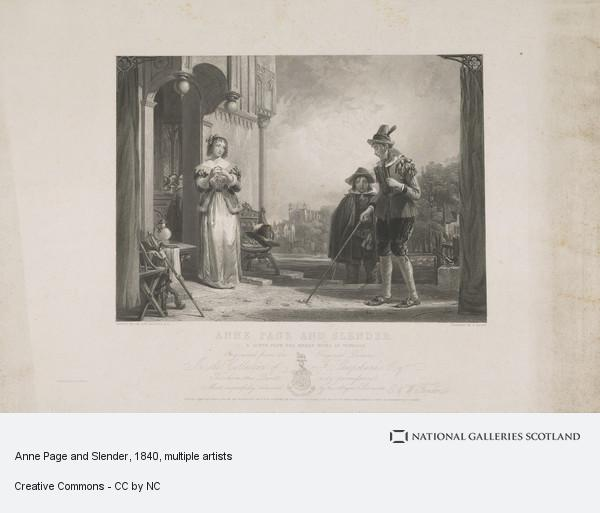 Frederick Bacon, Anne Page and Slender