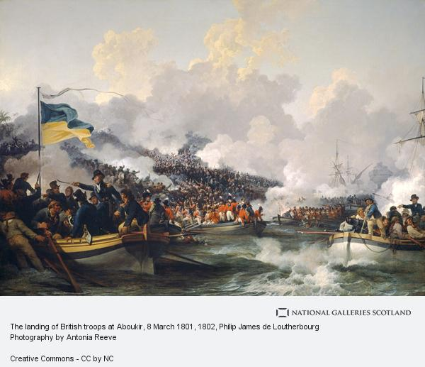 Philip James de Loutherbourg, The landing of British troops at Aboukir, 8 March 1801 (1802)