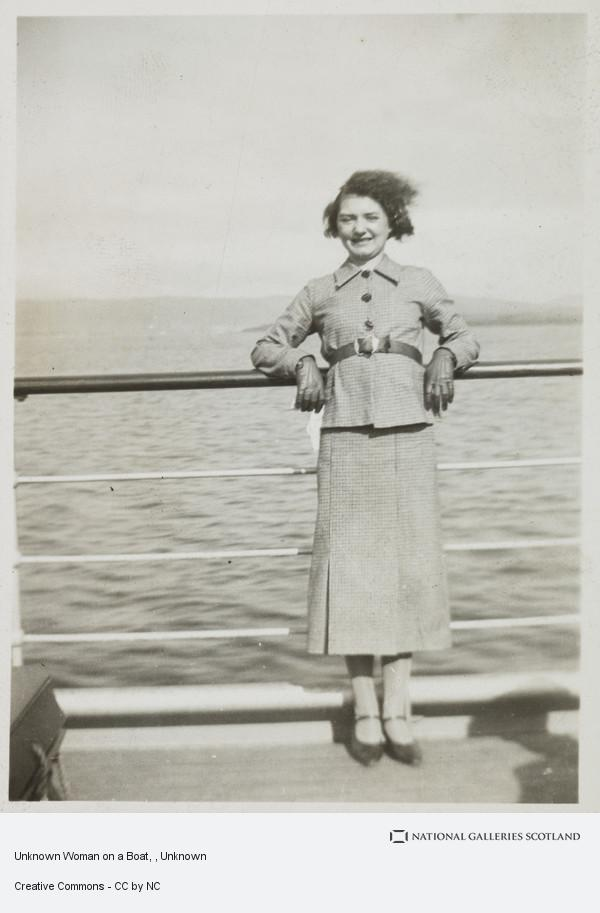 Unknown, Unknown Woman on a Boat