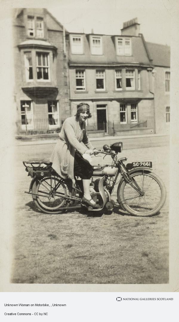 Unknown, Unknown Woman on Motorbike