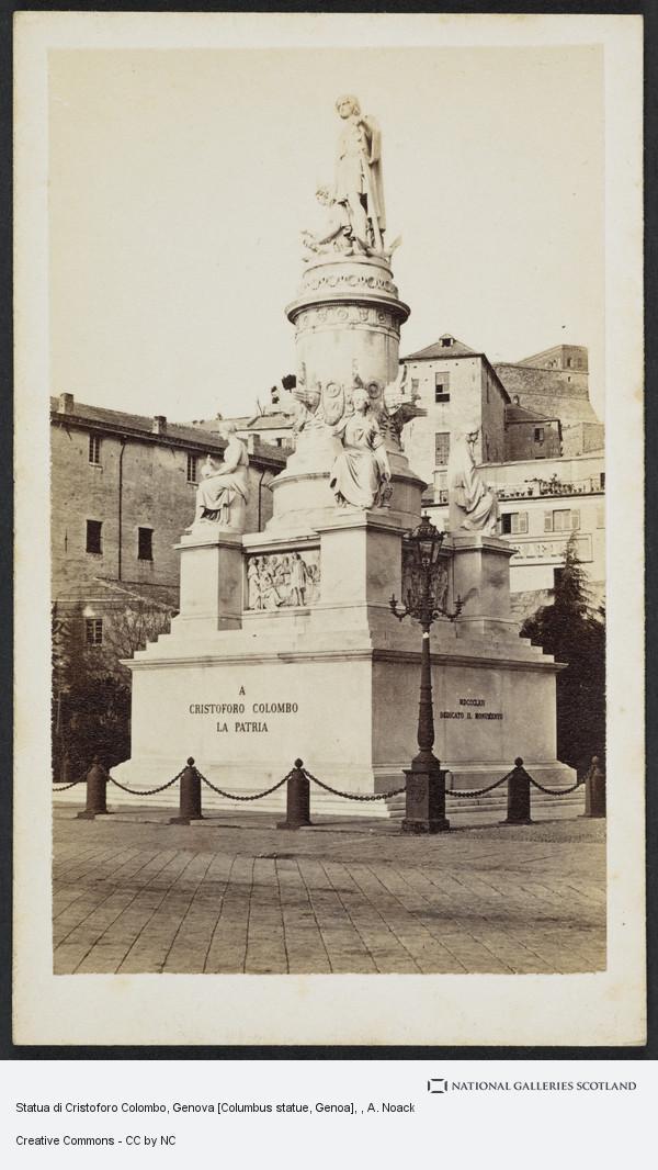 A. Noack, Statua di Cristoforo Colombo, Genova [Columbus statue, Genoa]