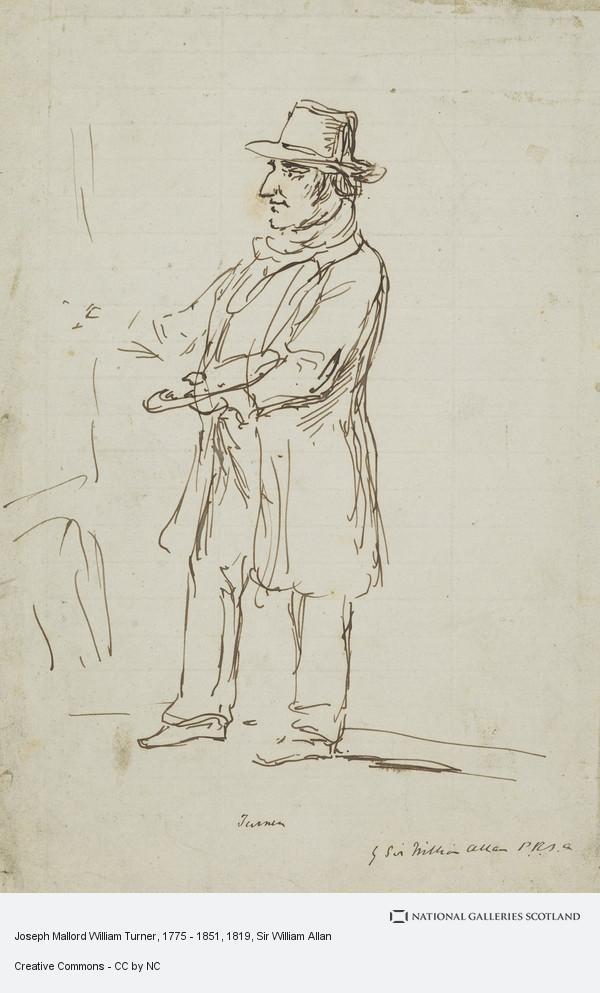Sir William Allan, Joseph Mallord William Turner, 1775 - 1851