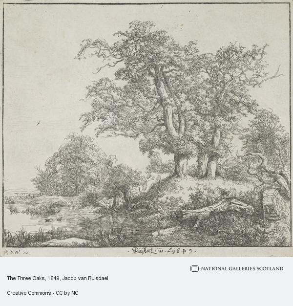 Jacob van Ruisdael, The Three Oaks
