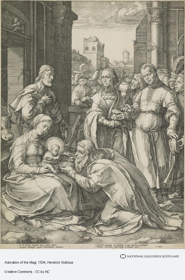 Hendrick Goltzius, Adoration of the Magi