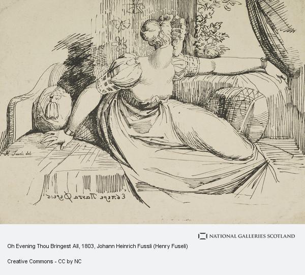 Johann Heinrich Fussli (Henry Fuseli), Oh Evening Thou Bringest All