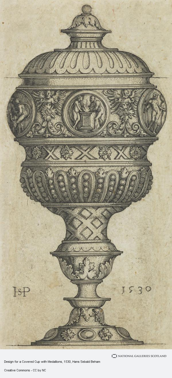 Hans Sebald Beham, Design for a Covered Cup with Medallions