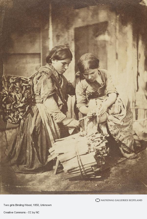 Unknown, Two girls Binding Wood