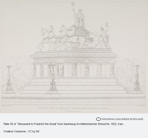 Karl Friedrich Schinkel, Plate 35 of  'Monument to Friedrich the Great' from Sammlung Architektonischer Entwürfe