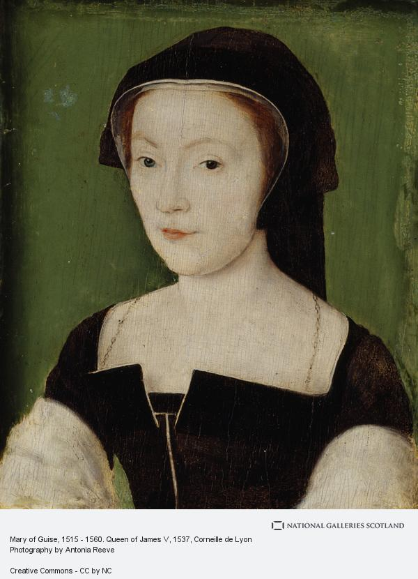 Corneille de Lyon, Mary of Guise, 1515 - 1560. Queen of James V (About 1537)