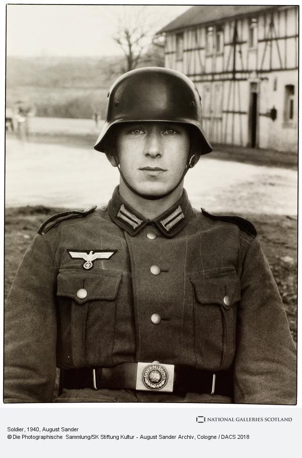 August Sander, Soldat [Soldier], about 1940 (about 1940)