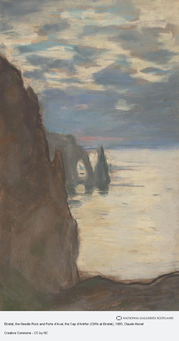 Claude Monet, Etretat, the Needle Rock and Porte d'Aval, the Cap d'Antifer (Cliffs at Etretat)