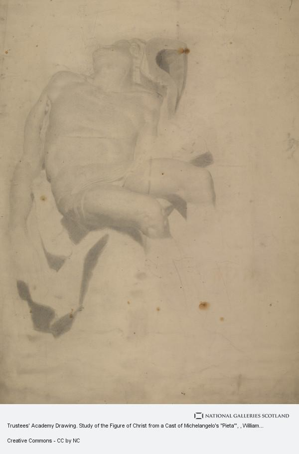 William McTaggart, Trustees' Academy Drawing. Study of the Figure of Christ from a Cast of Michelangelo's
