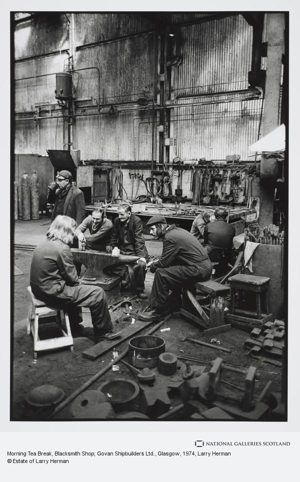 Larry Herman, Morning Tea Break, Blacksmith Shop; Govan Shipbuilders Ltd., Glasgow