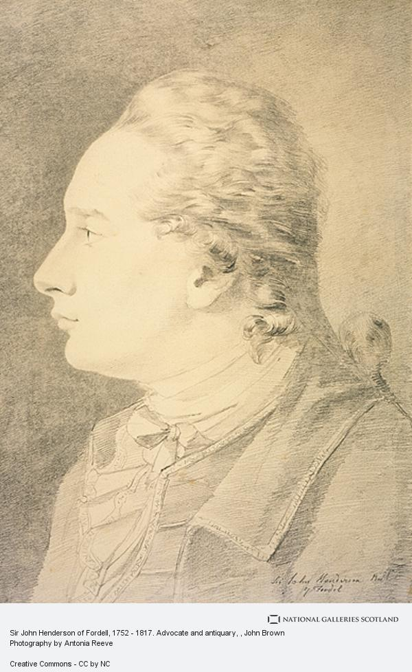 John Brown, Sir John Henderson of Fordell, 1752 - 1817. Advocate and antiquary