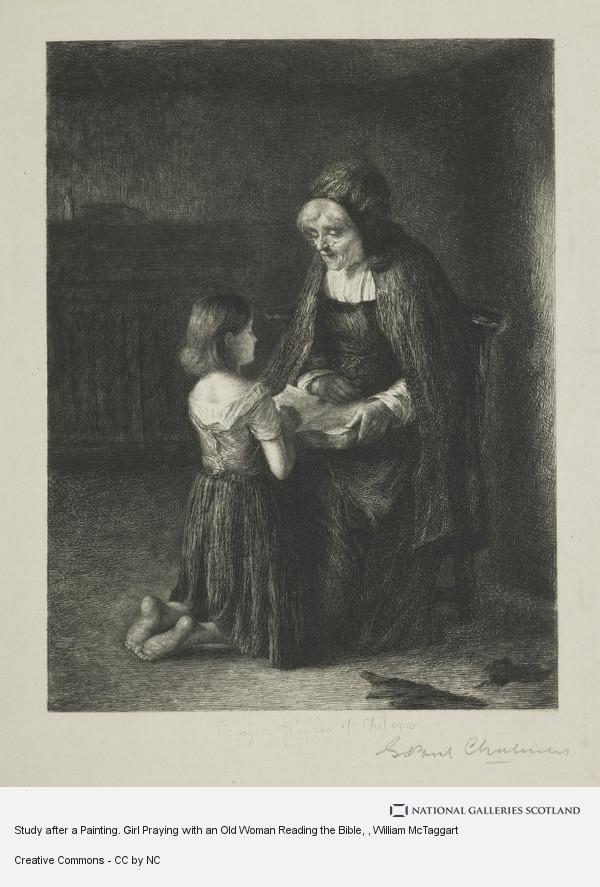 Girl Praying Painting