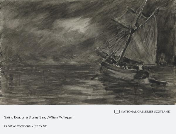William McTaggart, Sailing Boat on a Stormy Sea