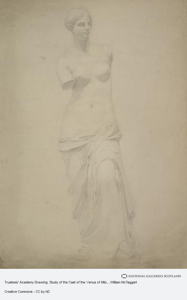 William McTaggart, Trustees' Academy Drawing. Study of the Cast of the Venus of Milo