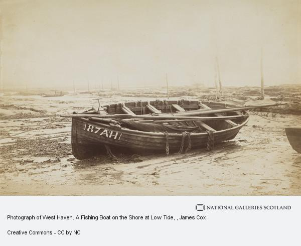James Cox, Photograph of West Haven. A Fishing Boat on the Shore at Low Tide
