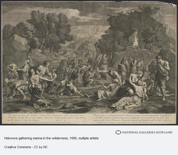 Guillaume Chasteau, Hebrews gathering manna in the wilderness