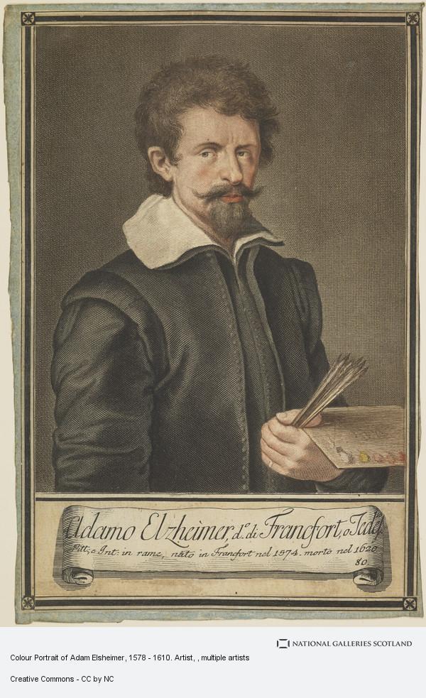 Johann Jakob Frey, Colour Portrait of Adam Elsheimer, 1578 - 1610. Artist