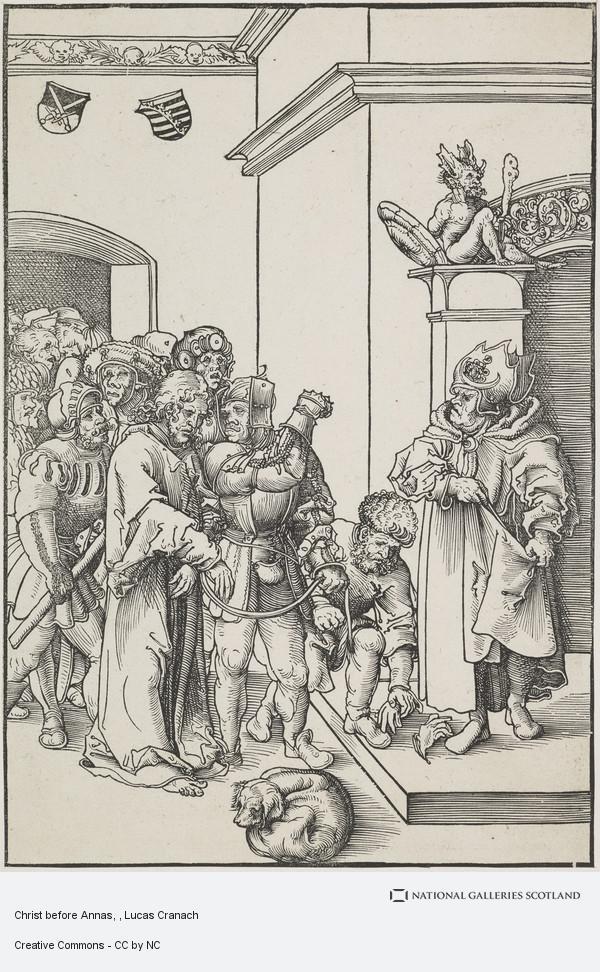 Lucas Cranach, Christ before Annas