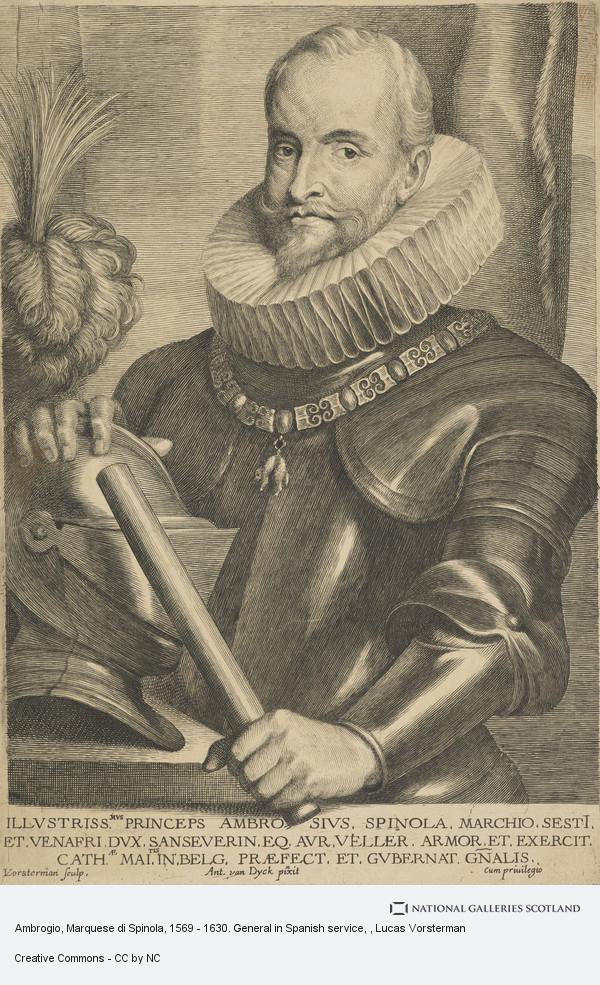 Lucas Vorsterman, Ambrogio, Marquese di Spinola, 1569 - 1630. General in Spanish service
