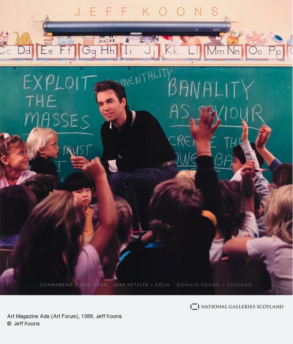Jeff Koons, Art Magazine Ads (Art Forum) (1988 - 1989)