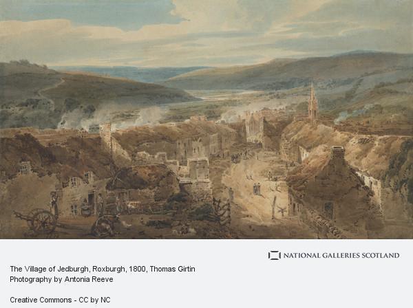 Thomas Girtin, The Village of Jedburgh, Roxburgh