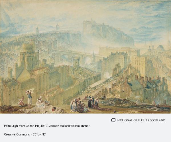Joseph Mallord William Turner, Edinburgh from Calton Hill (About 1819)