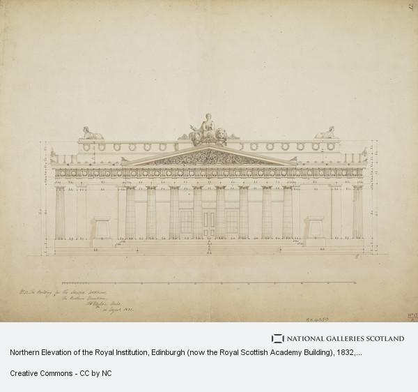 William Henry Playfair, Northern Elevation of the Royal Institution, Edinburgh (now the Royal Scottish Academy Building)