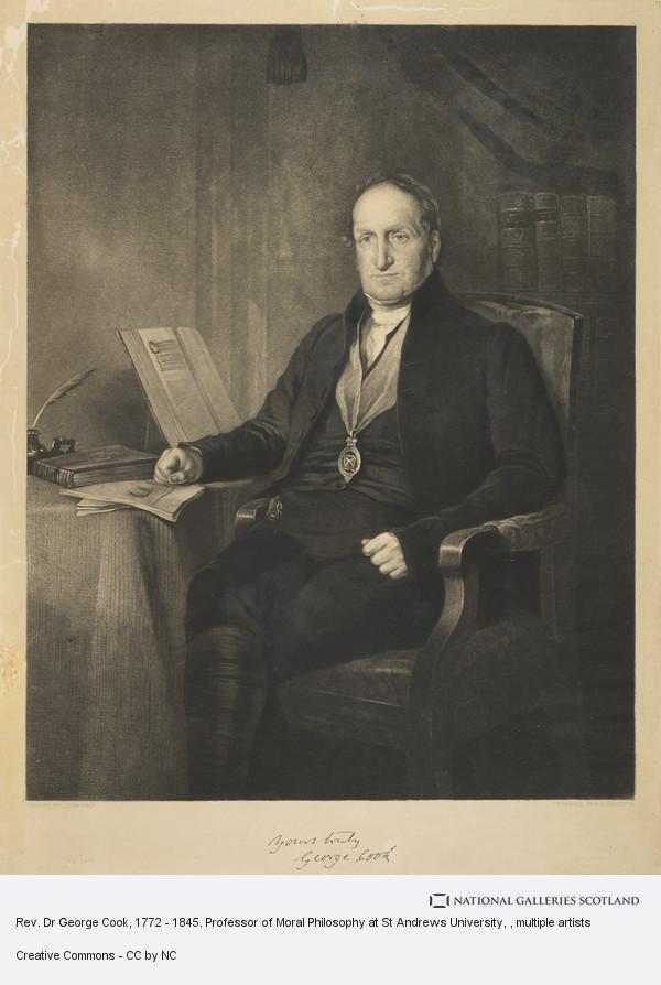 Robert Moore Hodgetts, Rev. Dr George Cook, 1772 - 1845. Professor of Moral Philosophy at St Andrews University
