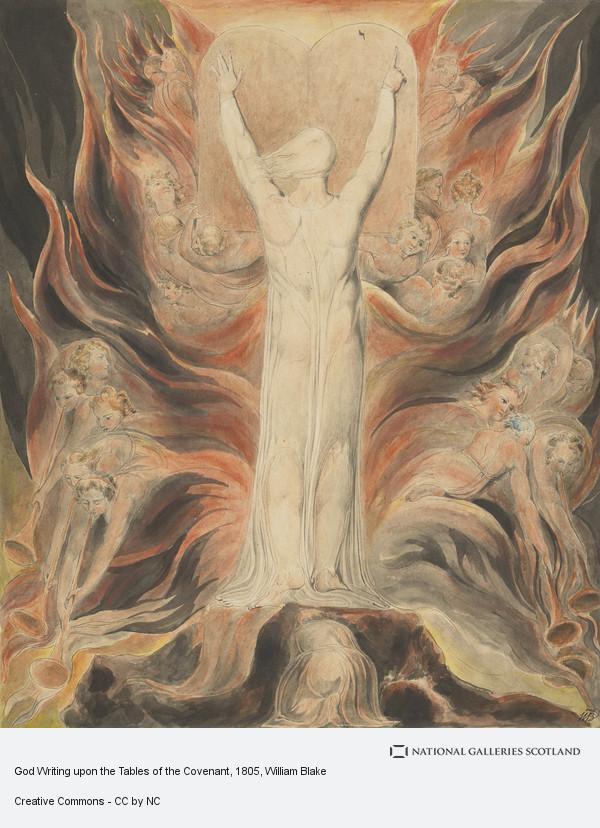 William Blake, God Writing upon the Tables of the Covenant (About 1805)