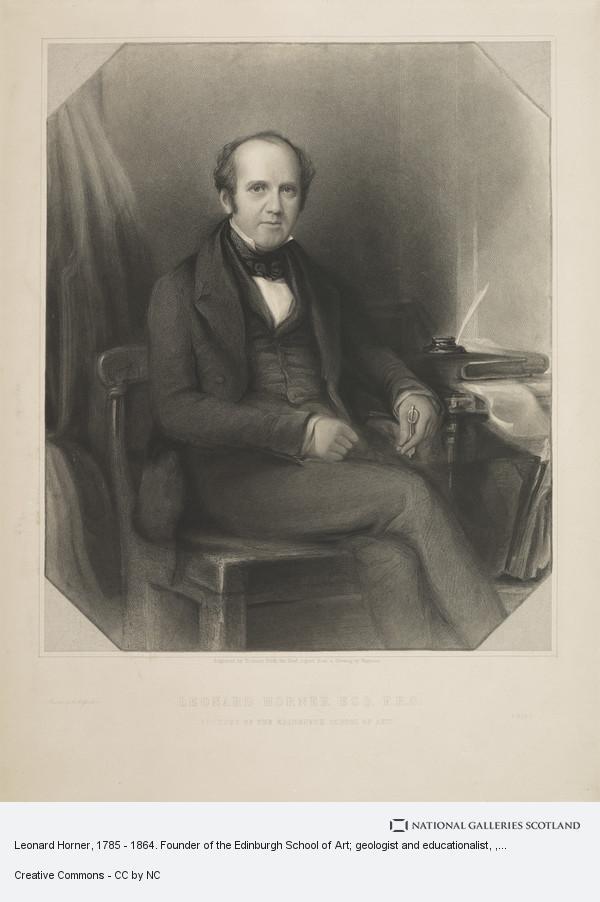 Thomas Dick, Leonard Horner, 1785 - 1864. Founder of the Edinburgh School of Art; geologist and educationalist
