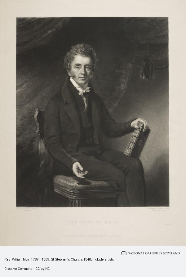 Colvin Smith, Rev. William Muir, 1787 - 1869. St Stephen's Church