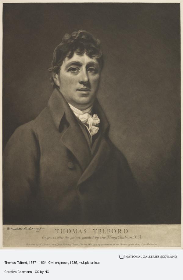Henry Macbeth Raeburn, Thomas Telford, 1757 - 1834. Civil engineer