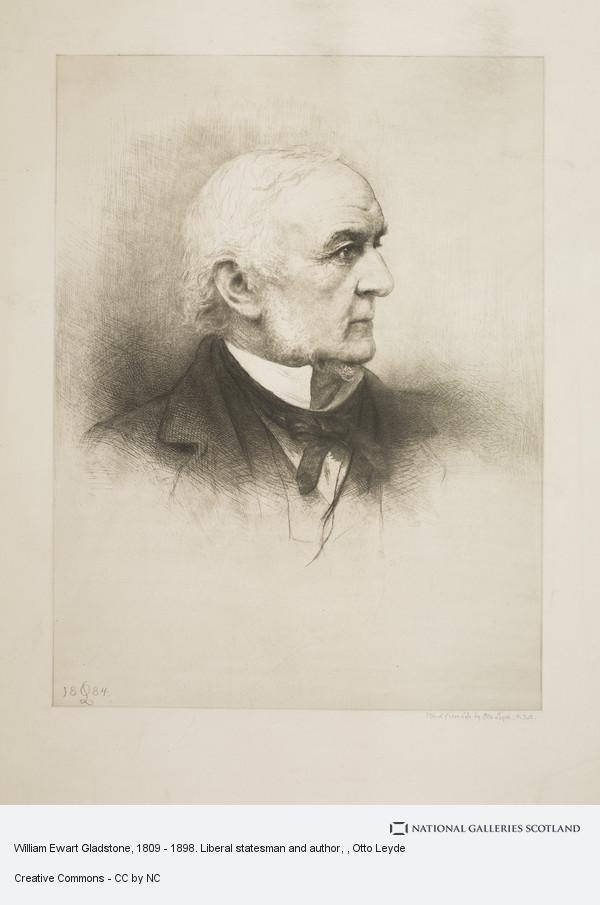 Otto Leyde, William Ewart Gladstone, 1809 - 1898. Liberal statesman and author